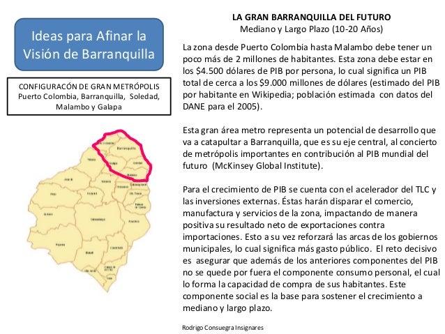 LA GRAN BARRANQUILLA DEL FUTURO                                                             Mediano y Largo Plazo (10-20 A...