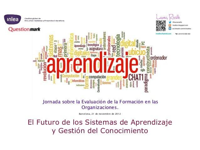 Jornada sobre la Evaluación de la Formación en las                     Organizaciones.                   Barcelona, 21 de ...