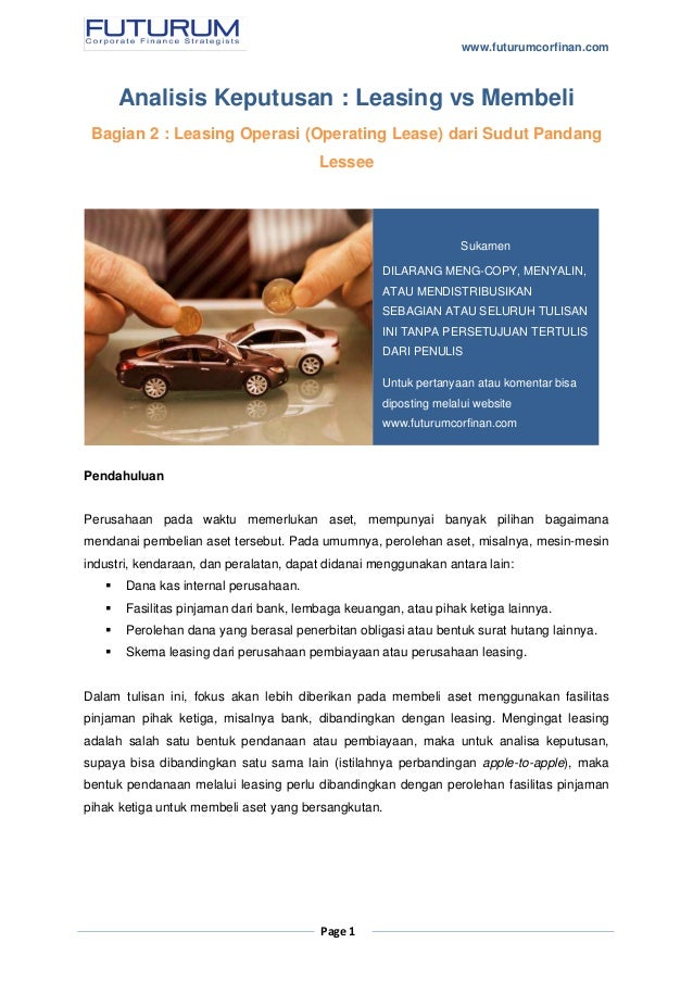lease versus purchase paper 2 View essay - lease versus purchase paper from finance fin/370 at university of phoenix 1 lease versus purchase paper lease versus purchase paper team a.