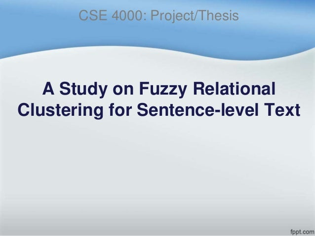 fuzzy clustering thesis Phd thesis fuzzy phd thesis fuzzy phd thesis clustering phd, associate professor,phd theses validity guided robust fuzzy clustering methods for.