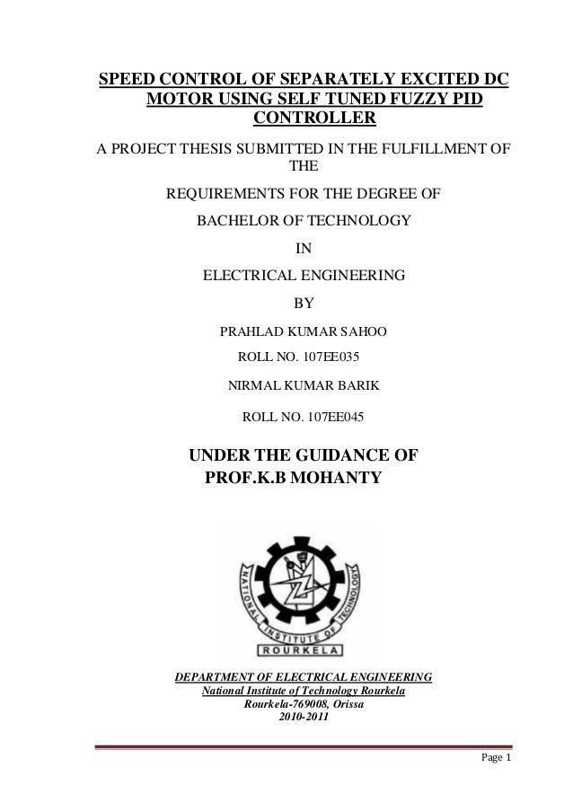 thesis on motor controls 1 motor basics agsm 325 motors vs engines • motors convert electrical energy to mechanical energy • engines convert chemical energy to mechanical energy.