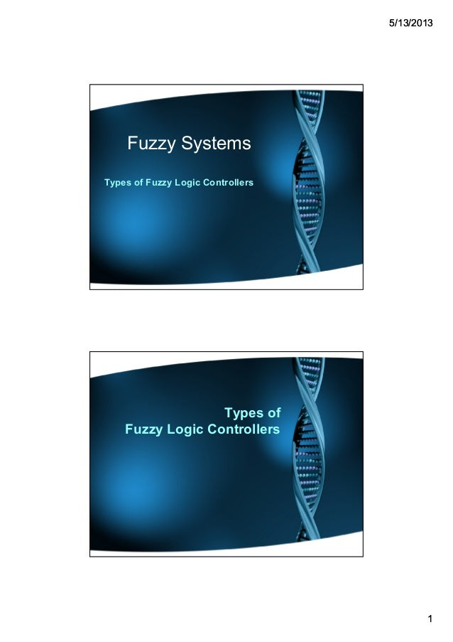 55//1313//20132013 11 Fuzzy Systems Types of Fuzzy Logic Controllers Types of Fuzzy Logic Controllers