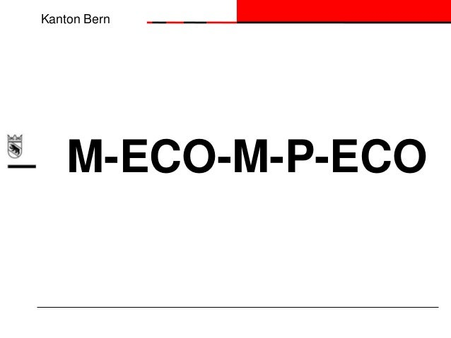 Kanton Bern  M-ECO-M-P-ECO
