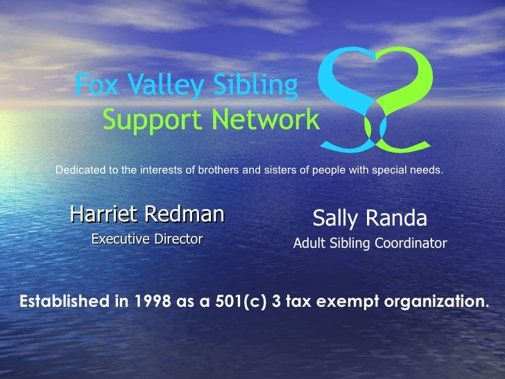 Fox Valley Sibling Support Network - What is that?