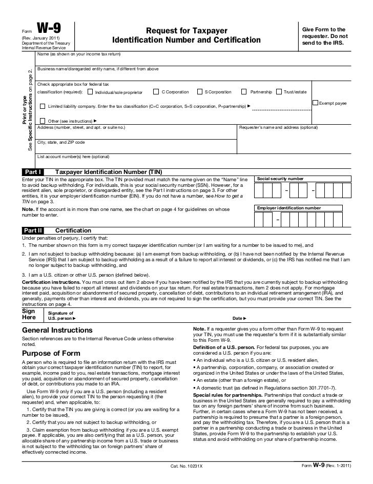 Form                                 W-9                                                Request for Taxpayer              ...