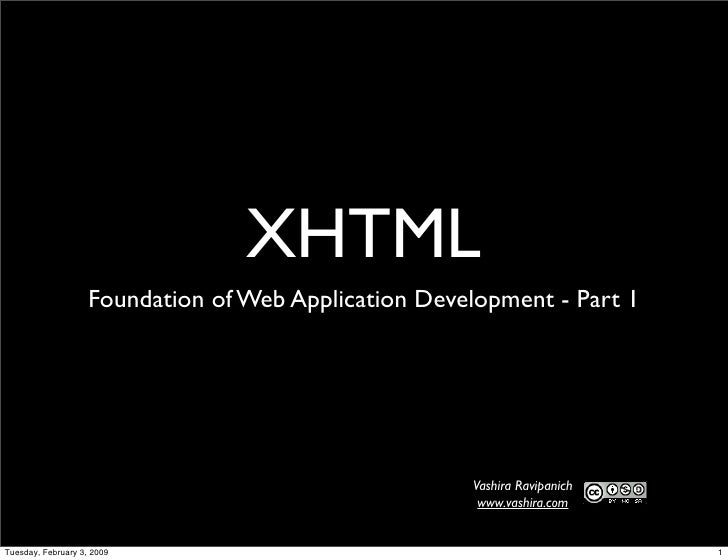 Foundation of Web Application Developmnet - XHTML