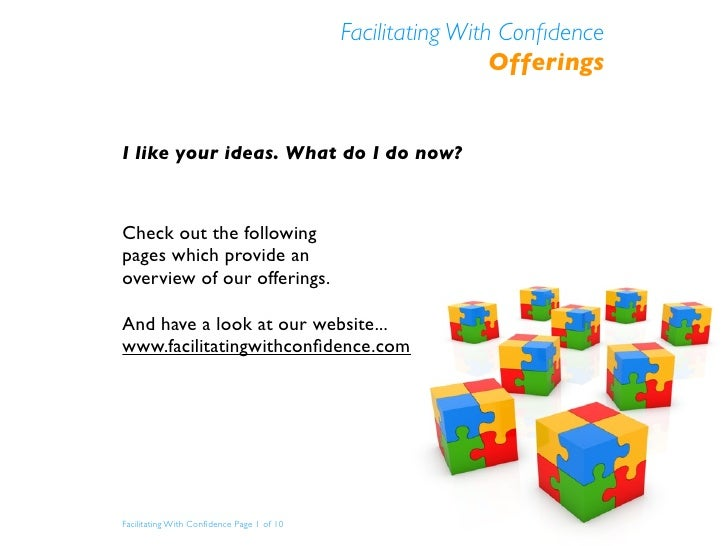 Facilitating With Confidence Offerings