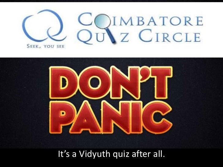 cqc quiz by Vidyuth