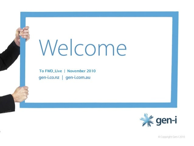 FWD_LIVE: The Gen-i Pathway to Cloud