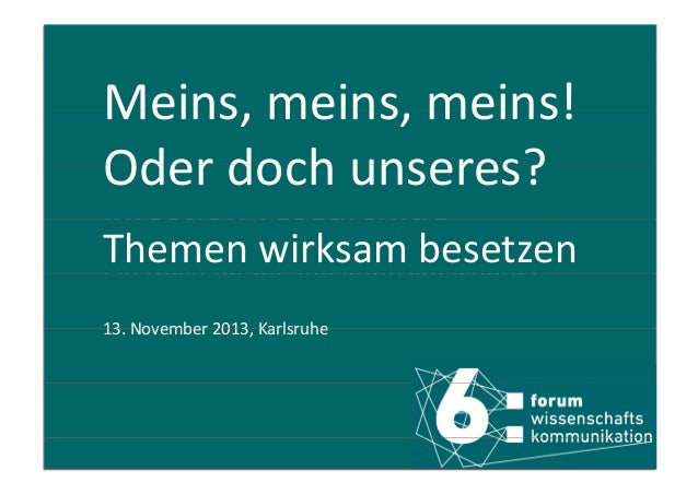 Meins,meins,meins! Meins meins meins! Oderdochunseres? Oder doch unseres? infection research.de infection‐research.de...