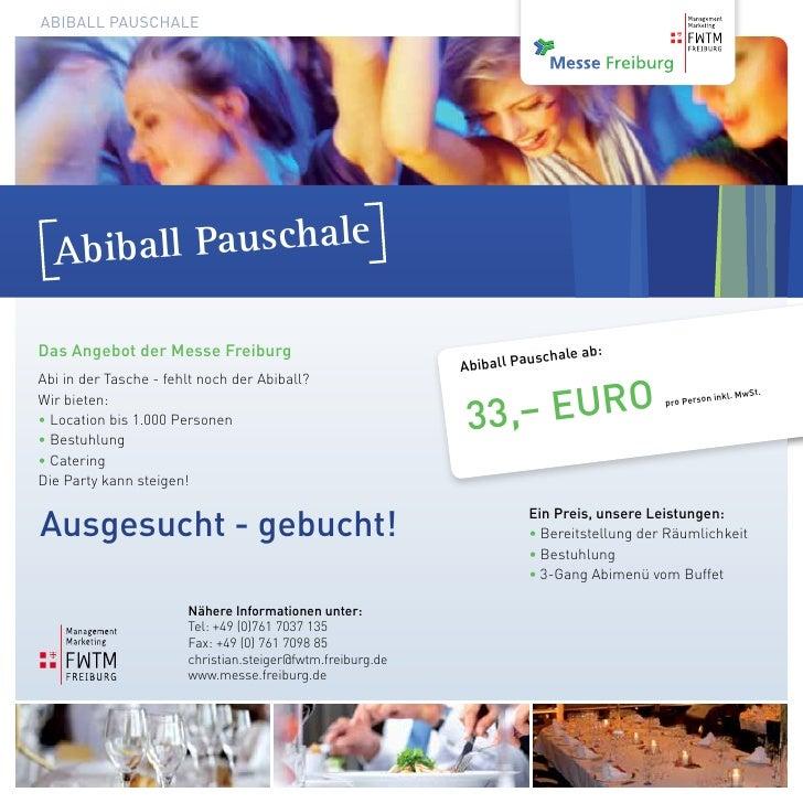 AbibAll PAuschAle  A biball PauschaleDas Angebot der Messe Freiburg                                          uschale ab   ...