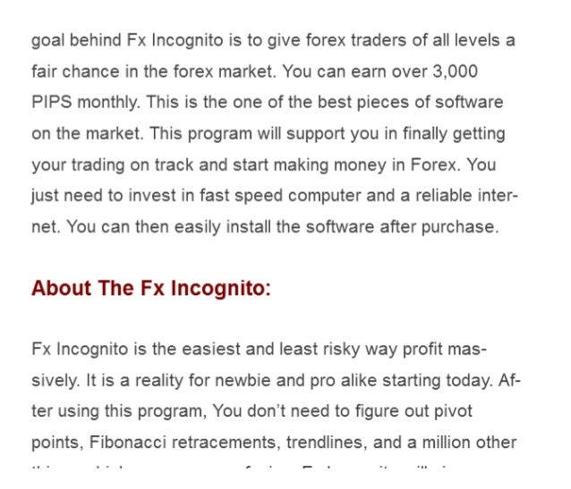 Forex incognito review
