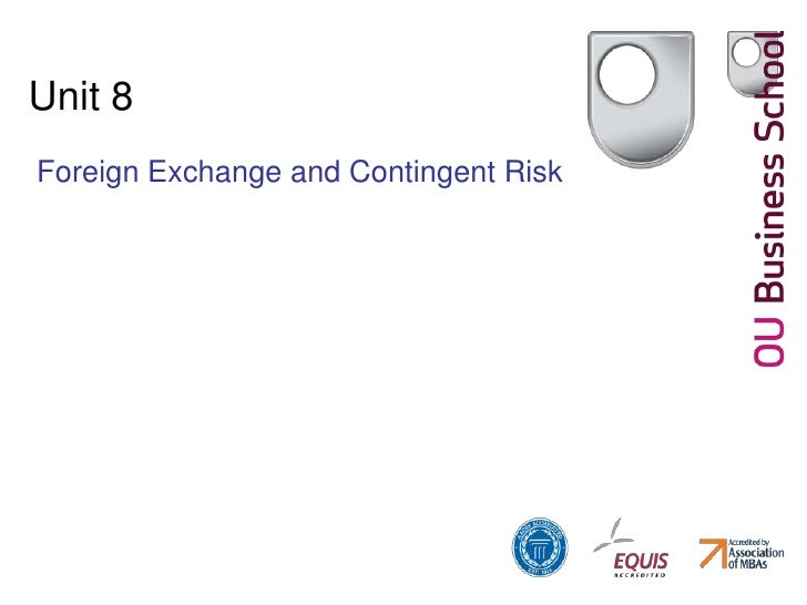 Unit 8<br />Foreign Exchange and Contingent Risk<br />