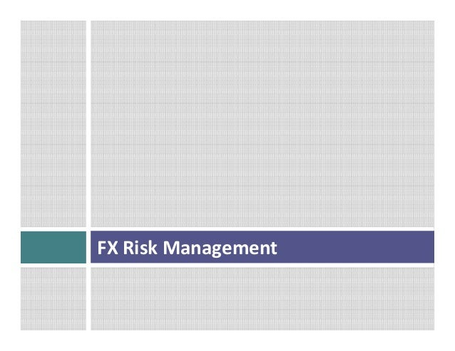Fx options risk management