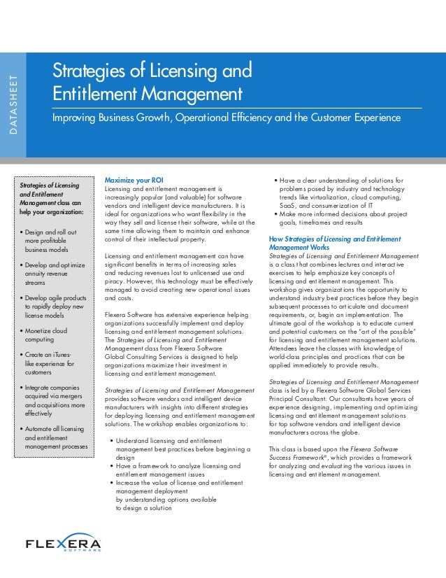 Maximize your ROI Licensing and entitlement management is increasingly popular (and valuable) for software vendors and int...