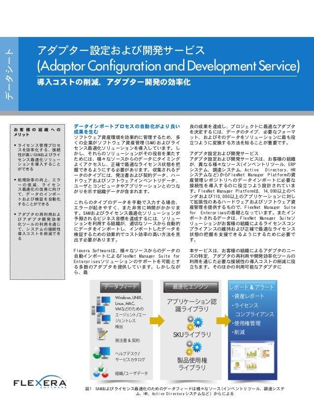 アダプター設定および開発サービス
