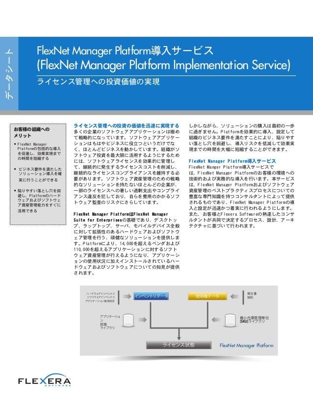 FlexNet Manager Platform導入サービス