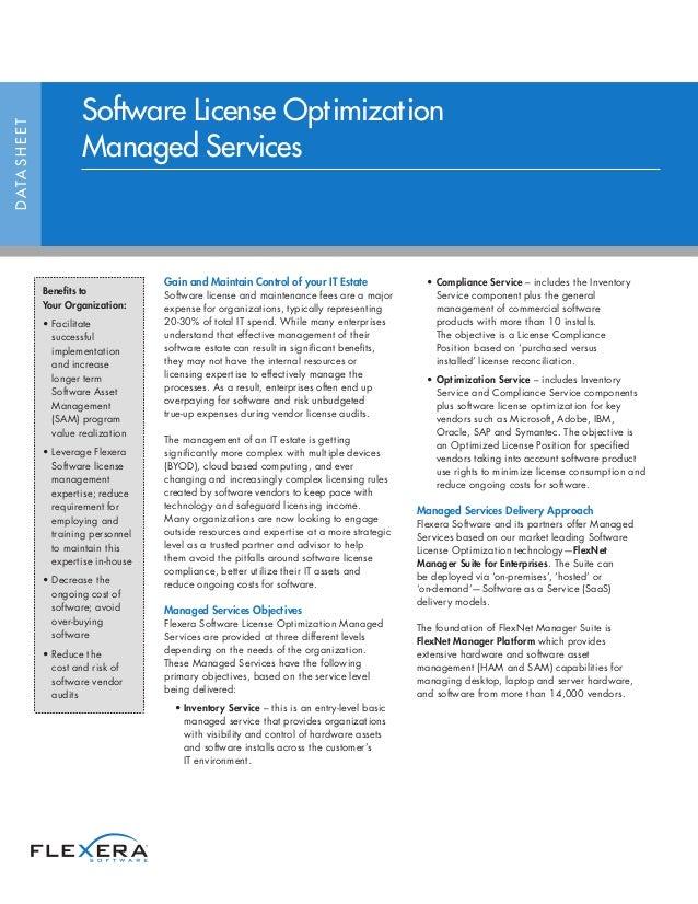 Software License Optimization Managed Services
