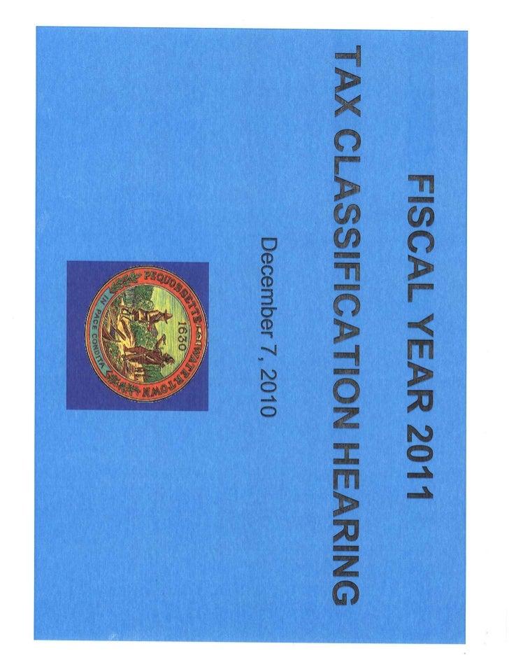 Watertown, MA FY 2011 tax class 12 2-10