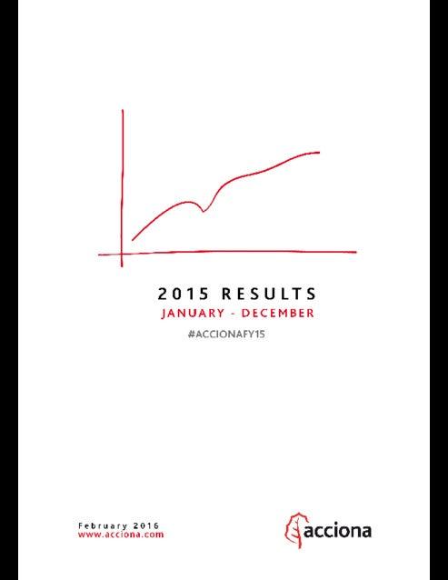 ACCIONA FY 2015 Results #ACCIONAFY15