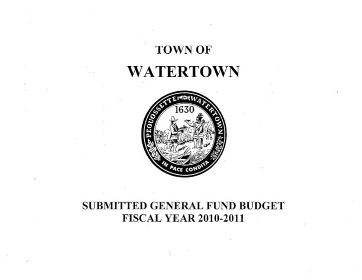 Watertown, MA FY 2011 general fund budget