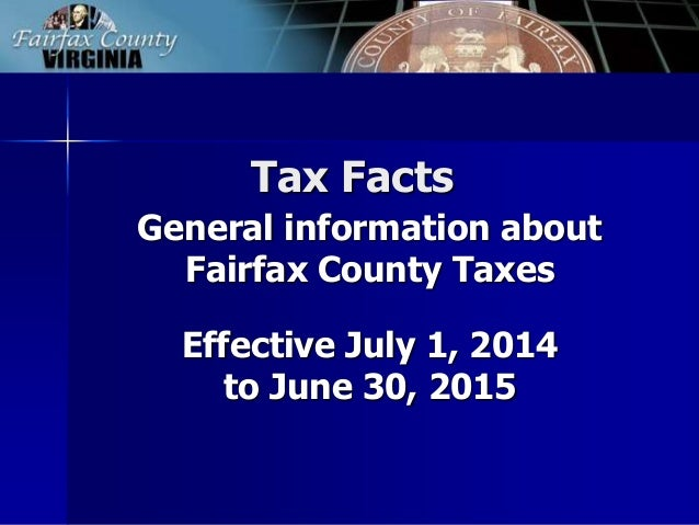 FY 2015 Tax Facts