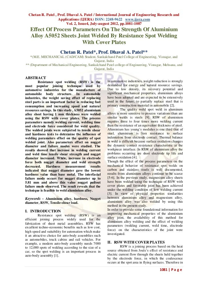 Chetan R. Patel , Prof. Dhaval A. Patel / International Journal of Engineering Research and                    Application...
