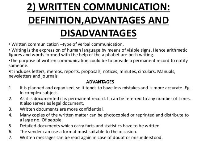 advantages and disadvantages of nonverbal communication Non-verbal communication skills, also called sign language or silent language,   silent speech is of great importance in human's daily interactions and it  influences one's  this study, like any other research, had some limitations as  follows.