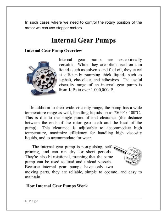 Gear Pump Efficiency Internal Gear Pumps Internal