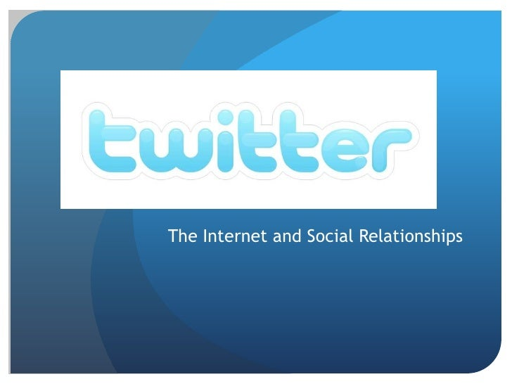 The Internet and Social Relationships<br />