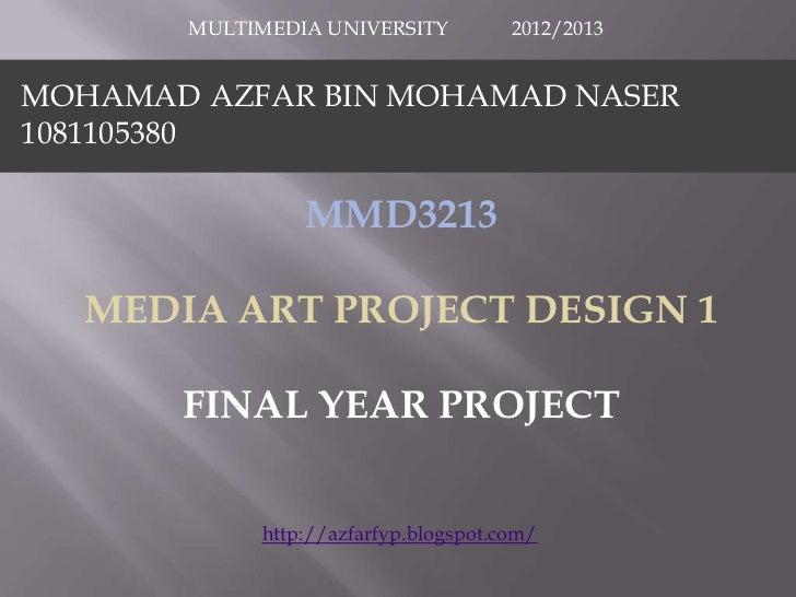 Media Art (Digital Media) Design Project 1 (FYP)