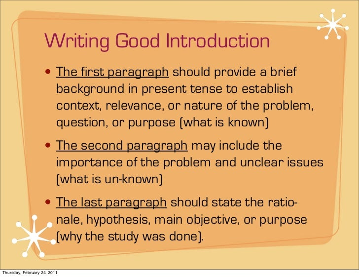 How to write an english thesis