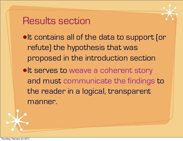 Phd thesis results section
