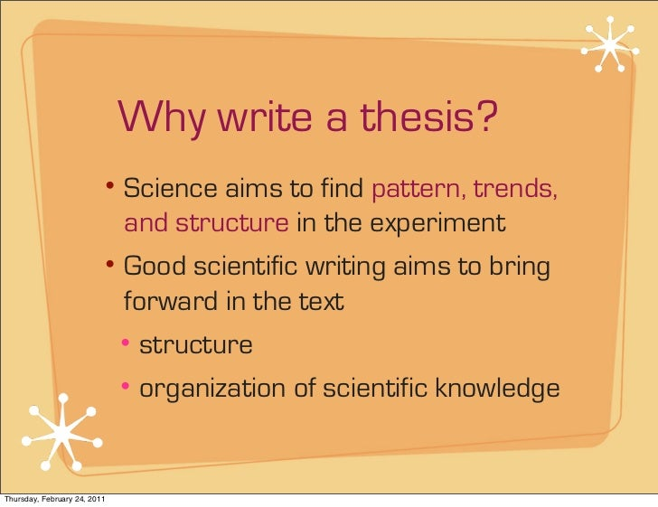 science thesis writing As a biology professor and thesis/dissertation editor, i have advised and mentored many graduate students, most of whom survived the writing process and successfully.