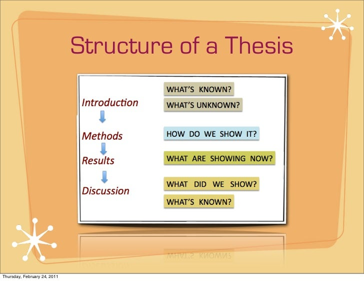Structure of a dissertation paper