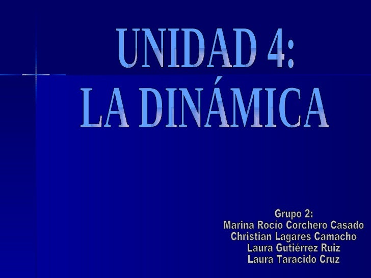 Unidad 4: Dinámica