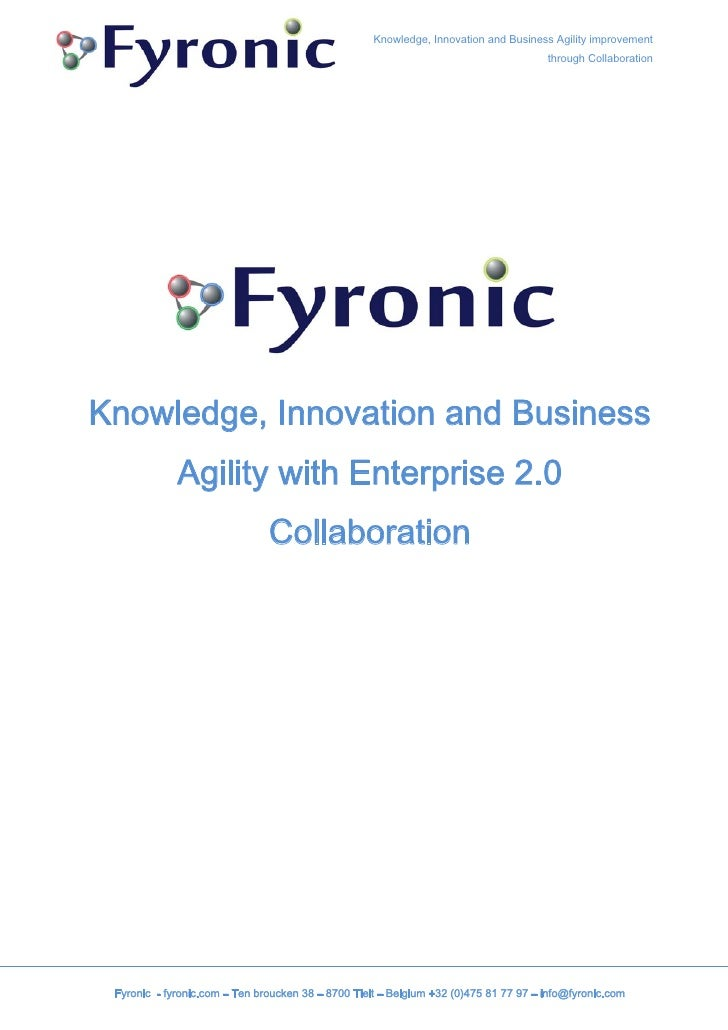 Fyronic services & Enterprise 2.0 implementation framework