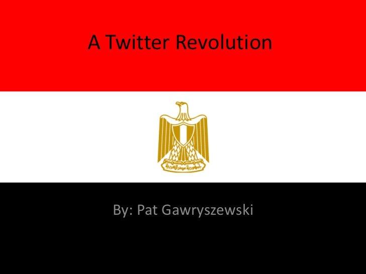 A Twitter Revolution  By: Pat Gawryszewski