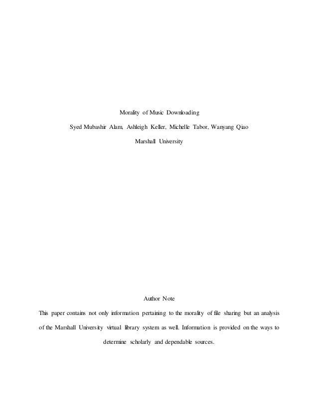 Research paper on Music downloading?