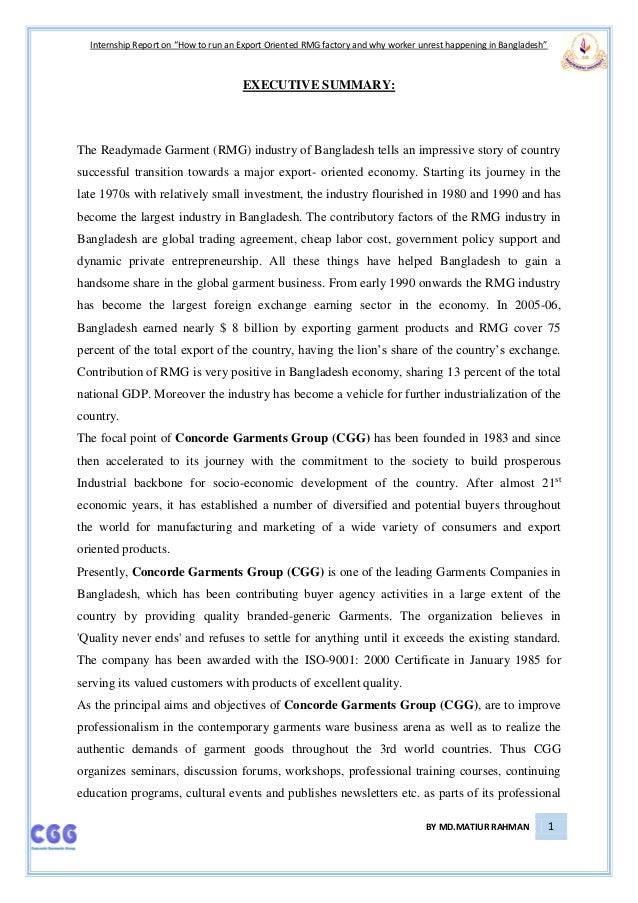 internship report on garments Internship report on garments case 10 - martin's textiles edu_factory02 ch 11a technical note facility location internship report on knit garment financial.