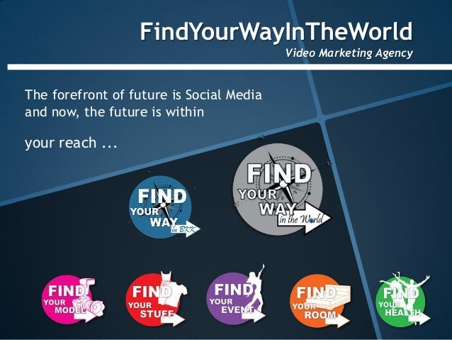 FindYourWayInTheWorld                                          Video Marketing AgencyThe forefront of future is Social Med...