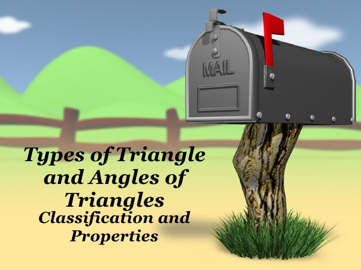 Types of Triangle and Angles of Triangles Classification and Properties