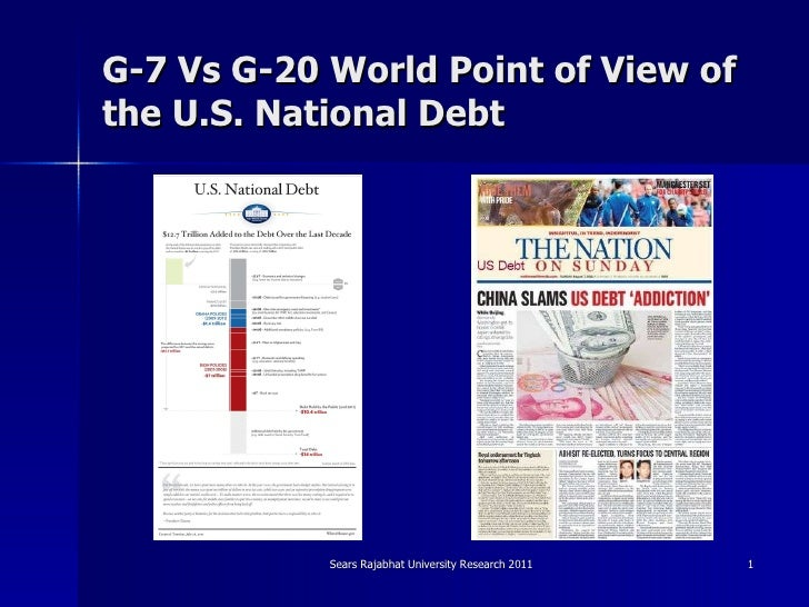 G 7 vs g-20 world point of view
