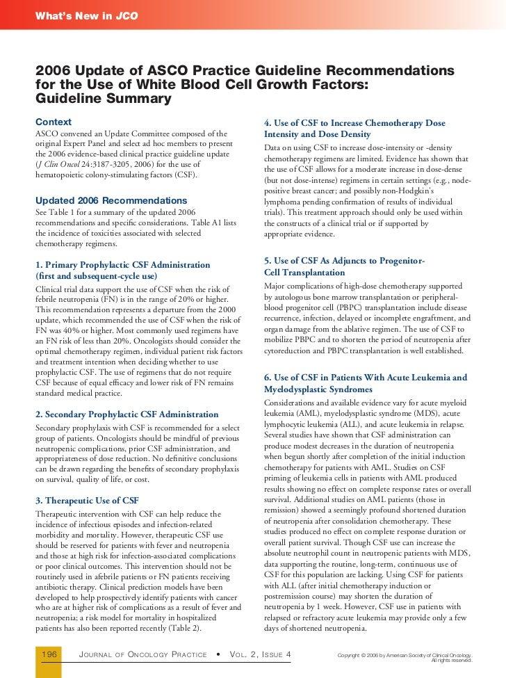 G csf guideline