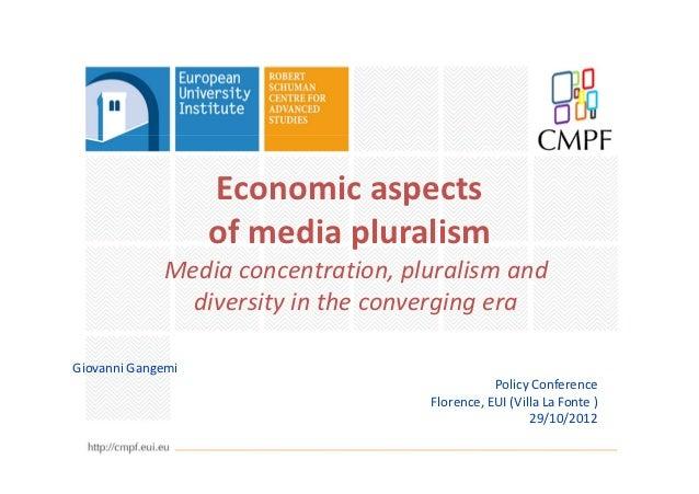 Economic aspects of Media Pluralism