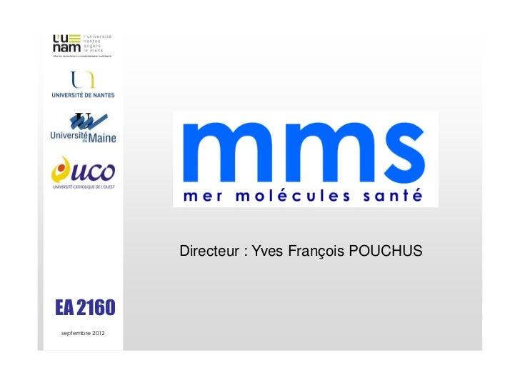 Directeur : Yves François POUCHUSEA 2160septembre 2012