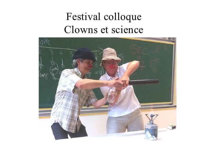 Festival colloqueClowns et science
