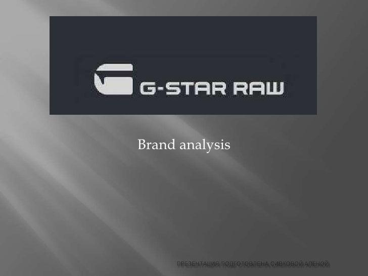 Brand analysis