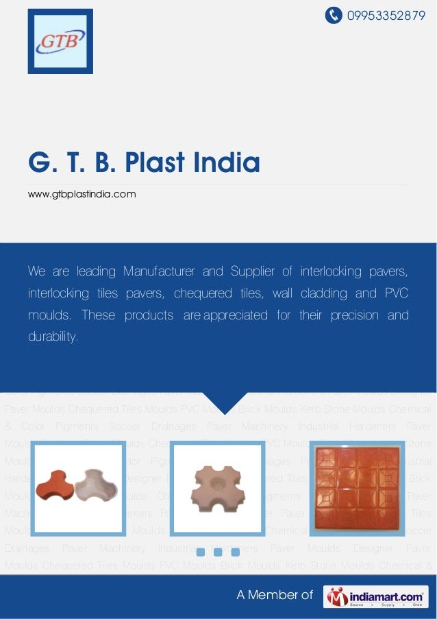 Designer Paver Moulds by G t b plast india