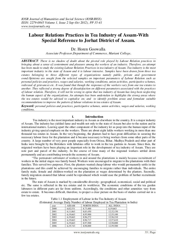 IOSR Journal of Humanities and Social Science (IOSRJHSS)ISSN: 2279-0845 Volume 1, Issue 2 Sep-Oct 2012), PP 35-41www.iosrj...